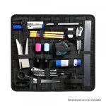 Adam Hall eszközrendező – 250 rugalmas pánttal, 390x350 mm, fekete