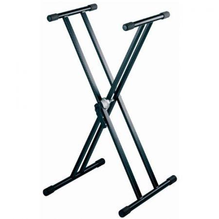 WorldMix billentyűállvány – duplán merevített X állvány, fekete
