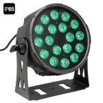 Cameo Light LED FLAT PRO PAR CAN 18 IP65 – 18x10 wattos RGBWA LED, lapos fekete házban, kültéri (IP65)