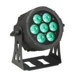 Cameo Light LED FLAT PRO PAR CAN 7 – 7x10 wattos RGBWA LED, lapos fekete házban