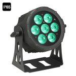 Cameo Light LED FLAT PRO PAR CAN 7 IP65 – 7x10 wattos RGBWA LED, lapos fekete házban, kültéri (IP65)