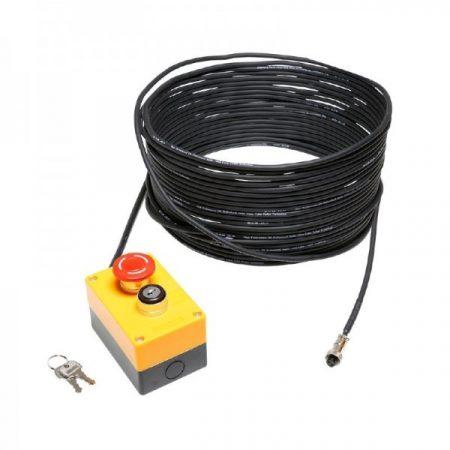 Cameo Light biztonsági vészleállító lézerhez – kulcsos kapcsolóval, 20 m kábellel