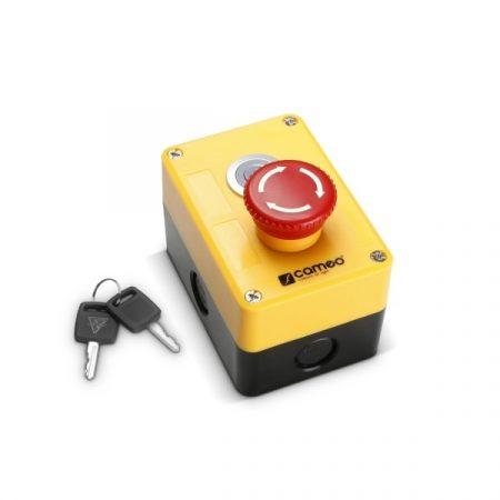 Cameo Light biztonsági vészleállító lézerhez – kulcsos kapcsolóval, XLR csatlakozóval