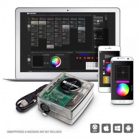 Cameo Light DMX vezérlő – 512 csatornás DMX interfész és szoftver csomag