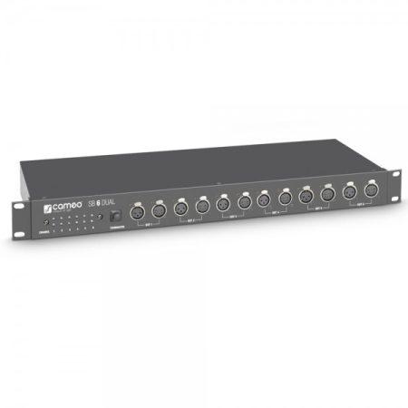 Cameo Light DMX szétosztó/erősítő – 6 csatornás, 3 és 5 pólusú XLR csatlakozókkal