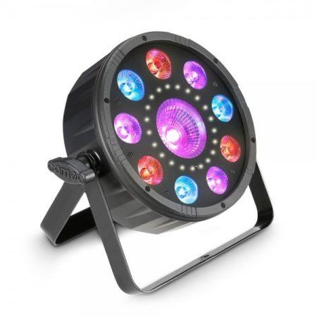 Cameo Light LED Flet Moon effekt – 3 az 1-ben multi effekt, RGB+UV LED, stroboszkóp, lapos fekete ház
