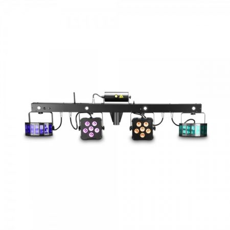 Cameo Light LED Multi FX Bar, 5 az 1-ben fény effekt – minden egyben megoldás 5 fényeffekttel mobil DJ-knek, zenekaroknak, előadóknak