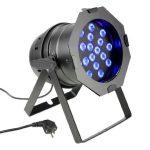 Cameo Light LED PAR 64 – 18x3 W-os háromszínű LED, fekete alumínium ház