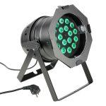 Cameo Light LED PAR 64 – 18x8 W-os négyszínű RGBW LED, fekete ház