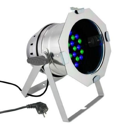 Cameo Light LED PAR 64 – 36x1 W-os RGB LED, polírozott alumínium ház