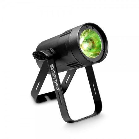 Cameo Light LED Q-Spot 15 – kompakt spotlámpa 15 W-os melegfehér fényű LED-del, fekete házban