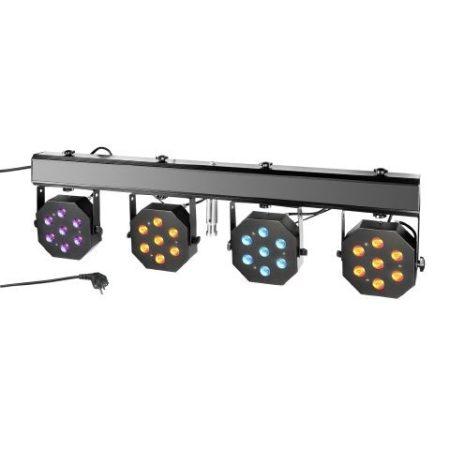 Cameo Light LED reflektor készlet – 28x3 W-os háromszínű LED, hordtáska