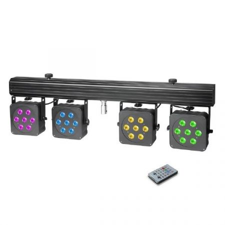 Cameo Light LED reflektor készlet – 28x8 W-os négyszínű LED, hordtáska