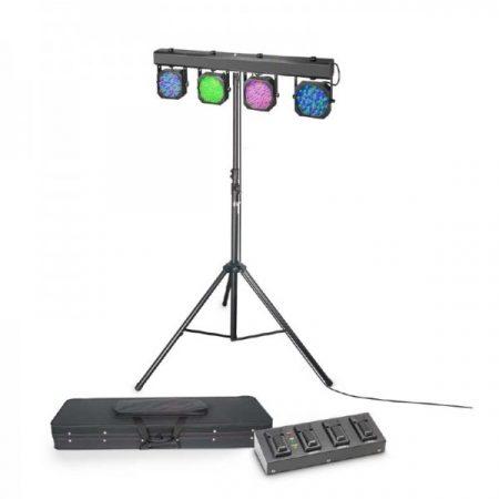 Cameo Light LED reflektor készlet – 432x10 mm-es RGB LED, hordtáska, lábkapcsoló, állvány