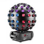 Cameo Light LED ROTOFEVER fény effekt – 5 x 12W RGBWA+UV LED tükörgömb hatás