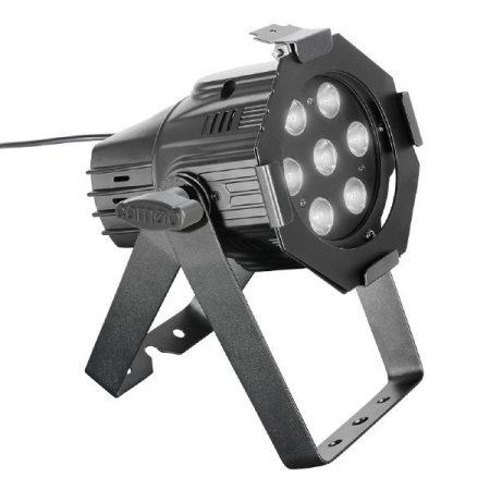 Cameo Light LED Stúdió MiniPAR Q 4W W – 7x4 W-os hideg/meleg fehér fényű LED, fekete házban