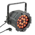 Cameo Light LED Stúdió PAR 64 – 18x8 W-os négyszínű RGBW LED, fekete alumínium ház