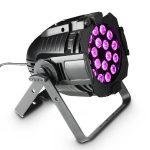 Cameo Light LED Stúdió PAR 64 – 18x8 W-os négyszínű RGBA LED, fekete alumínium ház