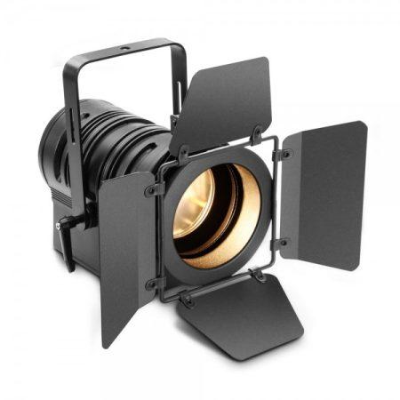 Cameo Light LED színházi spotlámpa PC lencsével – 40 W-os melegfehér LED-del, kézi zoommal, fekete házban