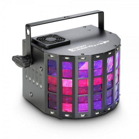 Cameo Light LED Superfly XS 2 az 1-ben effekt – derby effekt és stroboszkóp, infra távirányítóval