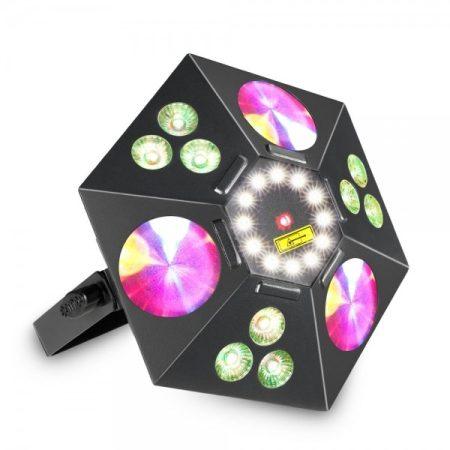 Cameo Light LED UVO 5 az 1-ben effekt – súrolófény, UV lámpa, virág effekt, stroboszkóp és lézer