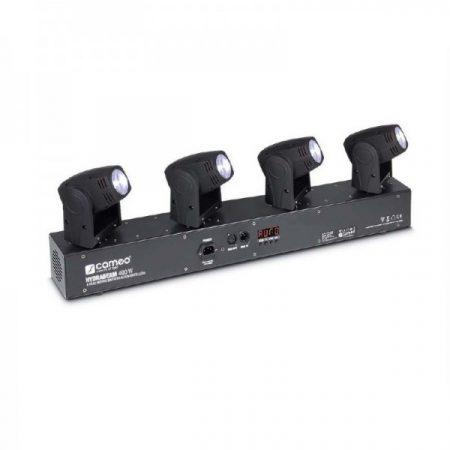 Cameo Light Moving Head HYDRABEAM 400 W – 4x10 W, fehér LED-es ultra gyors robotlámpa vezérlő sávon