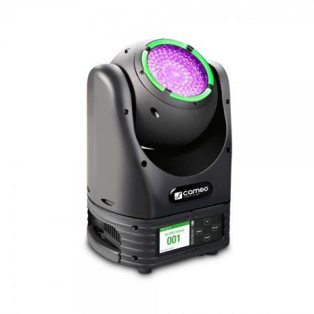 Cameo Light Moving Head Movobeam Zoom 100 – mozgófejes lámpa motoros zoommal, korlátlan forgással és LED gyűrűvel, 60 W-os Osram LED