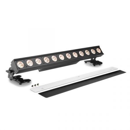 Cameo Light LED PIXBAR reflektor – professzionális 12x10 W-os WWA LED sor, Dim-to-Warm szabályzóval, fekete
