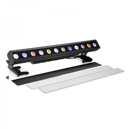 Cameo Light LED PIXBAR IP65 reflektor – professzionális 12x12 W-os RGBWA+UV LED sor, fekete, kültéri (IP65)