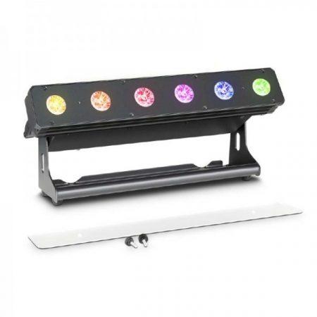 Cameo Light LED PIXBAR reflektor – professzionális 6x12 W-os RGBWA+UV LED sor, fekete