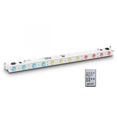 Cameo Light LED TRIBAR reflektor – 12x3 W-os TRI LED sor (RGB), infra távirányítóval, fehér házban