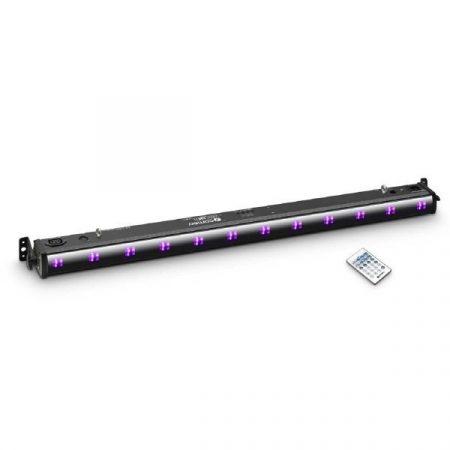 Cameo Light LED UVBAR reflektor – 12x3 W-os UV LED sor, infra távirányítóval, fekete házban