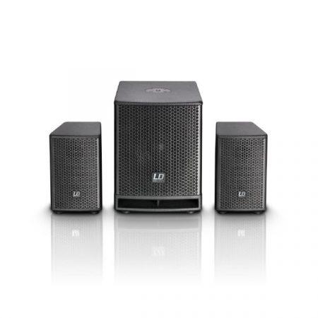 "LD Systems DAVE10G3 generációs aktív, kompakt 10""-os 350 W RMS/700 W-os PA rendszer"