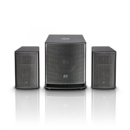 "LD Systems DAVE12G3 generációs aktív, kompakt 12""-os 540 W RMS/1080 W-os PA rendszer"