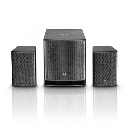 "LD Systems DAVE15G3 generációs aktív, kompakt 15""-os 700 W RMS/1400 W-os PA rendszer"