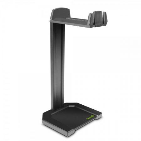 Gravity fejhallgató-tartó – asztalri, fekete