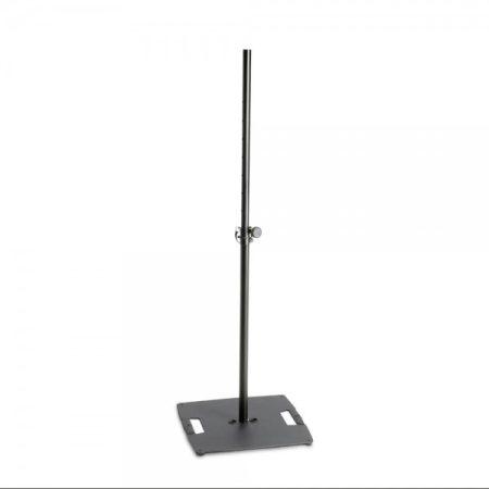 Gravity lámpa állvány – 2,4 m magasra kitolható, négyzetes acél talp, fekete