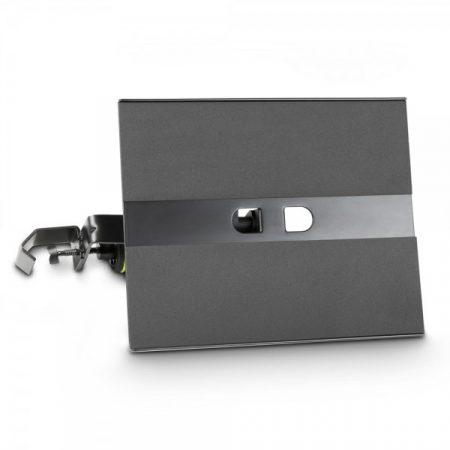 Gravity tálca – mikrofonállványra szerelhető, 360°-ban forgatható, fekete acél tálca
