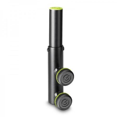 Gravity hangfalállvány adapter – változtatható dőlésszögű 35 mm-es hangfalállvány vég, fekete