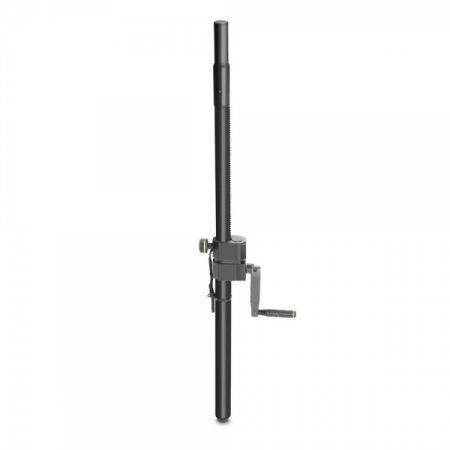 Gravity hangfaltartó (szatellit) rúd – hajtókarral, 35 mm / M20-as menettel, 800-1100 mm között állítható, fekete