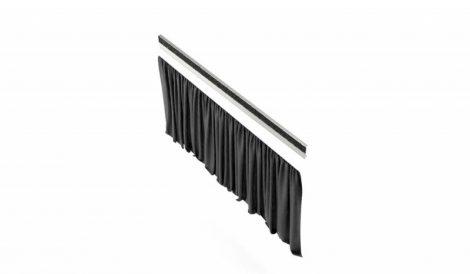 König & Meyer karmesteri pódium takaró függöny – 40 cm magas, strapabíró poliészterből, tépőzárral, fekete