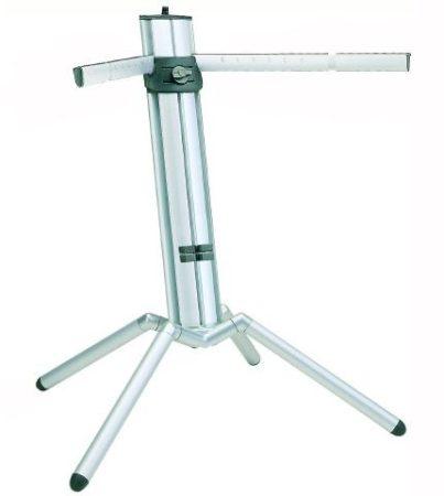 König & Meyer Baby Spider Pro billentyűállvány – alumínium, bővíthető, anodizált ezüst