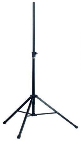 König & Meyer hangfalállvány 35 mm átmérőjú, acél, alumínium lábbal és alappal, fekete