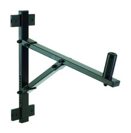König & Meyer hangfaltartó, fali – forgatható, dönthető csuklóval, 50 kg terhelhetőség, fekete