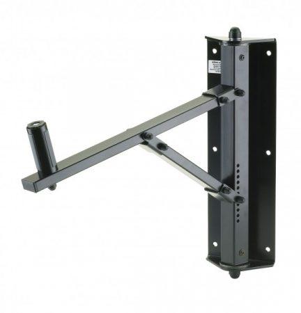 König & Meyer hangfaltartó, fali – minden irányba forgatható, dönthető csuklóval, 50 kg terhelhetőség, fekete