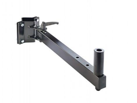 König & Meyer hangfaltartó, fali – acélból, fekete