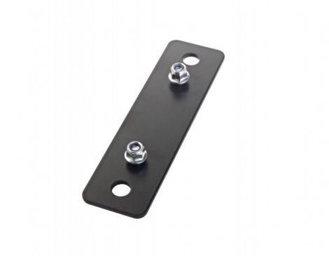 König & Meyer adapter panel 5 – hangfaltartó állványhoz, álló formátumú, 115 mm távolságú, M10 méretű rögzítő furatokkal, fekete