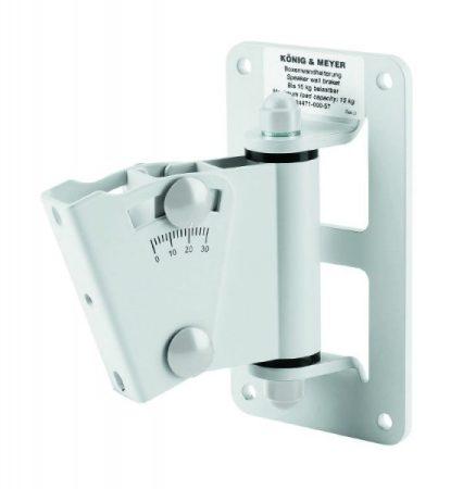 König & Meyer hangfaltartó, fali univerzális, dönthető lappal, max teherbírás 15 kg, fehér