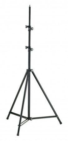 König & Meyer világításállvány magas, 2 részből álló szárral, állítható magassággal, M10-es csavarral, fekete