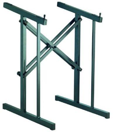 König & Meyer keverőállvány alumínium, állítható szélességű, gumi borítású paddal, fekete